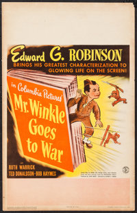"Mr. Winkle Goes to War (Columbia, 1944). Window Card (14"" X 22""). Comedy"