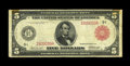 Large Size:Federal Reserve Notes, Fr. 840b $5 1914 Red Seal Federal Reserve Note Fine. A large percentage of known notes fall in this grade range for this dis...
