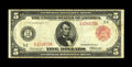 Fr. 836a $5 1914 Red Seal Federal Reserve Note Fine-Very Fine. This scarce Red Seal from the Richmond district is new to...