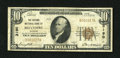 National Bank Notes:Illinois, Belvidere, IL - $10 1929 Ty. 1 The Second NB Ch. # 3190. Sidney E.Gorman and Omar H. Wright piloted this Boone County b...