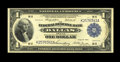 Fr. 740 $1 1918 Federal Reserve Bank Note About New. A center fold is found on this well-embossed Ace that has toned a s...