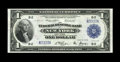 Fr. 711 $1 1918 Federal Reserve Bank Note Gem New. Fancy serial number B3333A is found on this embossed note. From The B...