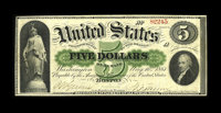 Fr. 3 $5 1861 Demand Note Very Fine. This $5 is flawless for the grade with bold signatures and dark inks. Nice, origina...