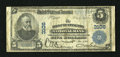 National Bank Notes:West Virginia, Huntington, WV - $5 1902 Plain Back Fr. 598 The First NB Ch. #3106. Printed signatures of C.A. Boone and C.M. Gohen ado...
