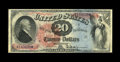 Large Size:Legal Tender Notes, Fr. 127 $20 1869 Legal Tender Very Fine. According to the census,only an Oat Bin Hoard example has a lower serial number th...