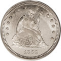 Seated Quarters: , 1866 25C Motto MS65 PCGS. This a stunning Gem that is among thefinest known pieces of this first-year of issue type coin. ...