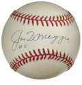 "Autographs:Baseballs, Joe DiMaggio ""#5"" Single Signed Baseball. The Yankee Clipper has adorned the offered OAL (Budig) baseball with a pristine s..."
