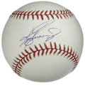 Autographs:Baseballs, Ken Griffey, Jr. Single Signed Baseball. Perfect sweet spotsignature has been applied by one of the modern era's most prom...