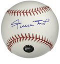 Autographs:Baseballs, Willie Mays Single Signed Baseball. Pristine example of WillieMays' signature appears on the sweet spot of the offered OML...