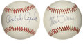 Autographs:Baseballs, Monte Irvin and Orlando Cepeda Single Singed Baseballs Lot of 2.These two legends of New York and San Francisco Giants hi...