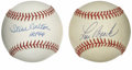 Autographs:Baseballs, Steve Carlton and Lou Brock Single Signed Baseballs Lot of 2. Herewe make the perfect opportunity to own a pair of HOF sin...