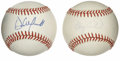 Autographs:Baseballs, Gary Carter and Dave Winfield Single Signed Baseballs Lot of 2.Great opportunity to become the owner of two great Hall of ...