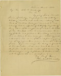 Autographs:Military Figures, Fine War-Dated Letter to General John C. Breckinridge recommending a V.M.I. cadet who fought at New Market. Charles W. Russe...
