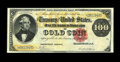 Large Size:Gold Certificates, Fr. 1209 $100 1882 Gold Certificate Extremely Fine. A little overforty examples of this number are known and this is one of...
