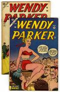 "Golden Age (1938-1955):Humor, Wendy Parker Comics #3 and 4 Group - Davis Crippen (""D"" Copies)pedigree (Atlas, 1953). Includes #3 (VG/FN); and #4 (FN-). A...(Total: 2 Comic Books)"