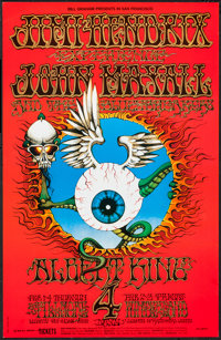 "Jimi Hendrix Experience (Bill Graham, R-1968). Concert Poster (14"" X 21.75""). Rock and Roll"