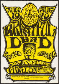 "The Grateful Dead at the Avalon Ballroom (Family Dog, 1966). Concert Poster (14"" X 20""). Rock and Roll"