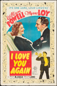 "I Love You Again (MGM, 1940). One Sheet (27"" X 41"") Style D. Comedy"