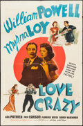 """Movie Posters:Comedy, Love Crazy (MGM, 1941). One Sheet (27"""" X 41"""") Style D. Comedy.. ..."""