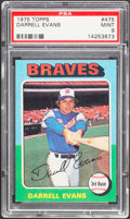 Baseball Cards:Singles (1970-Now), 1975 Topps Darrell Evans #475 PSA Mint 9....