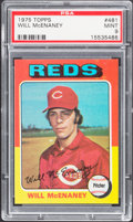Baseball Cards:Singles (1970-Now), 1975 Topps Will McEnaney #481 PSA Mint 9....