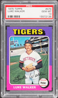Baseball Cards:Singles (1970-Now), 1975 Topps Luke Walker #474 PSA Gem Mint 10 - Pop Two....