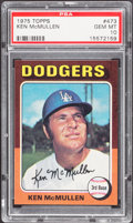 Baseball Cards:Singles (1970-Now), 1975 Topps Ken McMullen #473 PSA Gem Mint 10 - Pop Two....