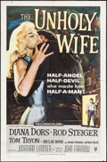 """Movie Posters:Crime, The Unholy Wife (RKO, 1957). One Sheet (27"""" X 41""""). Crime.. ..."""