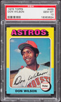 Baseball Cards:Singles (1970-Now), 1975 Topps Don Wilson #455 PSA Gem Mint 10....