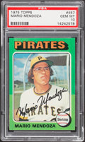 Baseball Cards:Singles (1970-Now), 1975 Topps Mario Mendoza #457 PSA Gem Mint 10....