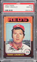 Baseball Cards:Singles (1970-Now), 1975 Topps Terry Crowley #447 PSA Gem Mint 10 - Pop Four....
