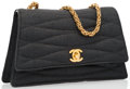 """Luxury Accessories:Bags, Chanel Gray Canvas Shoulder Bag with Gold Hardware. Very Good Condition. 8"""" Width x 5"""" Height x 2"""" Depth, 21.5"""" Should..."""