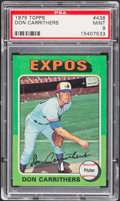 Baseball Cards:Singles (1970-Now), 1975 Topps Don Carrithers #438 PSA Mint 9....