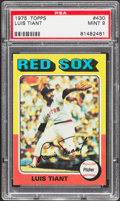 Baseball Cards:Singles (1970-Now), 1975 Topps Luis Tiant #430 PSA Mint 9....