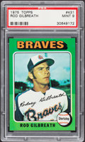 Baseball Cards:Singles (1970-Now), 1975 Topps Rod Gilbreath #431 PSA Mint 9....