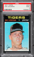 Baseball Cards:Singles (1970-Now), 1971 Topps Joe Coleman #403 PSA Mint 9....