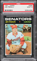 Baseball Cards:Singles (1970-Now), 1971 Topps Jim French #399 PSA Mint 9....