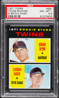 Baseball Cards:Singles (1970-Now), 1971 Topps Twins Rookies #391 PSA NM-MT+ 8.5....