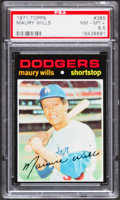 Baseball Cards:Singles (1970-Now), 1971 Topps Maury Wills #385 PSA NM-MT+ 8.5....