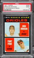 Baseball Cards:Singles (1970-Now), 1971 Topps Orioles Rookies #362 PSA Mint 9....