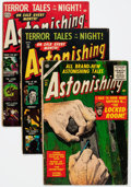 Golden Age (1938-1955):Horror, Astonishing Group of 6 (Atlas, 1952-56) Condition: Average VG-....(Total: 6 Comic Books)