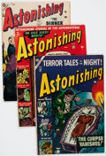 Golden Age (1938-1955):Horror, Astonishing Group of 5 (Atlas, 1952-57) Condition: Average VG+....(Total: 5 Comic Books)