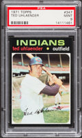 Baseball Cards:Singles (1970-Now), 1971 Topps Ted Uhlaender #347 PSA Mint 9....