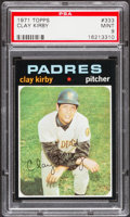 Baseball Cards:Singles (1970-Now), 1971 Topps Clay Kirby #333 PSA Mint 9....