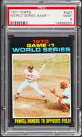 Baseball Cards:Singles (1970-Now), 1971 Topps World Series Game 1 #327 PSA Mint 9....