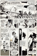 "Original Comic Art:Panel Pages, Bernie Wrightson Swamp Thing #7 ""Night of the Bat"" Page 4Batman Original Art (DC, 1973)...."