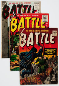 Battle Group of 16 (Marvel, 1955-59) Condition: Average GD/VG.... (Total: 16 Comic Books)