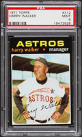 Baseball Cards:Singles (1970-Now), 1971 Topps Harry Walker #312 PSA Mint 9....