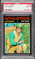 Baseball Cards:Singles (1970-Now), 1971 Topps Sal Bando #285 PSA Mint 9....