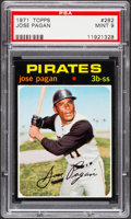 Baseball Cards:Singles (1970-Now), 1971 Topps Jose Pagan #282 PSA Mint 9....